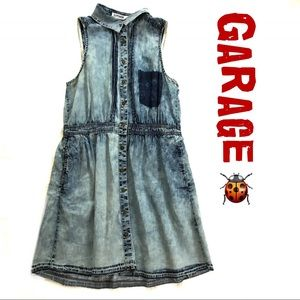 Garage Chambray Casual Denim look Dress Jr. Small